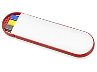 Набор Квартет: ручка шариковая, карандаш и маркер, белый/красный, фото 1