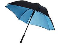 Зонт трость Square, полуавтомат 23, черный/синий, фото 1