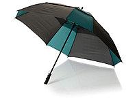 Зонт трость Helen, механический 30, черный/темно-зеленый, фото 1
