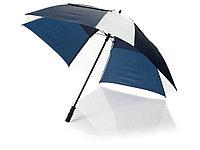 Зонт трость Helen, механический 30, синий/белый, фото 1