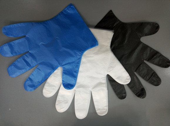 Перчатки ПНД Прочная  60 гр цветная 100шт, фото 2