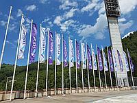 Печать флагов на политексе по индивидуальному заказу, фото 1