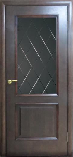 Дверь Вельми 1 тон 123 со стеклом