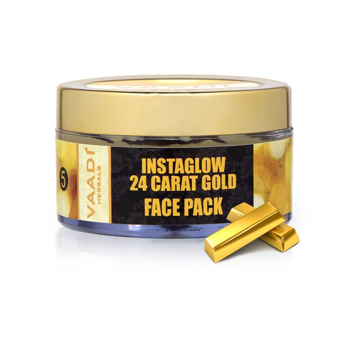 Маска для лица с 24 каратным золотом и витамином Е - фото 1