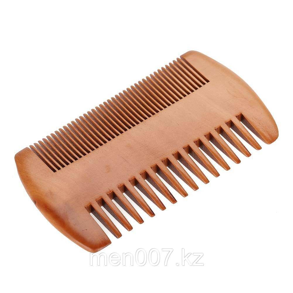 Расческа для бороды и волос деревянная двусторонняя