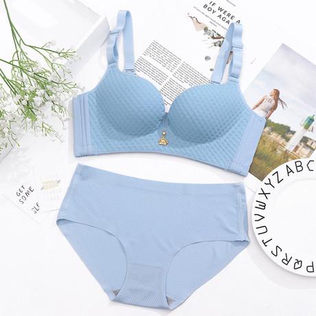 Бесшовное белье, голубого цвета, размер S-XS