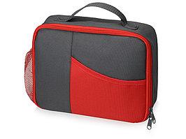Изотермическая сумка-холодильник Breeze для ланч-бокса, серый/красный (артикул 935941)