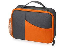 Изотермическая сумка-холодильник Breeze для ланч-бокса, серый/оранжевый (артикул 935978)