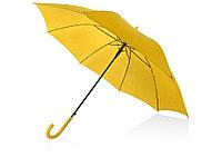 Зонт-трость полуавтоматический с пластиковой ручкой, желтый, фото 1