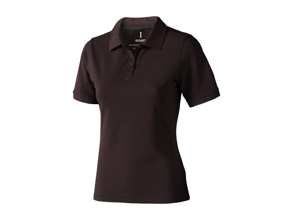 Рубашка поло Calgary женская, шоколадный коричневый