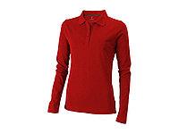 Рубашка поло Oakville женская с длинным рукавом, красный, фото 1