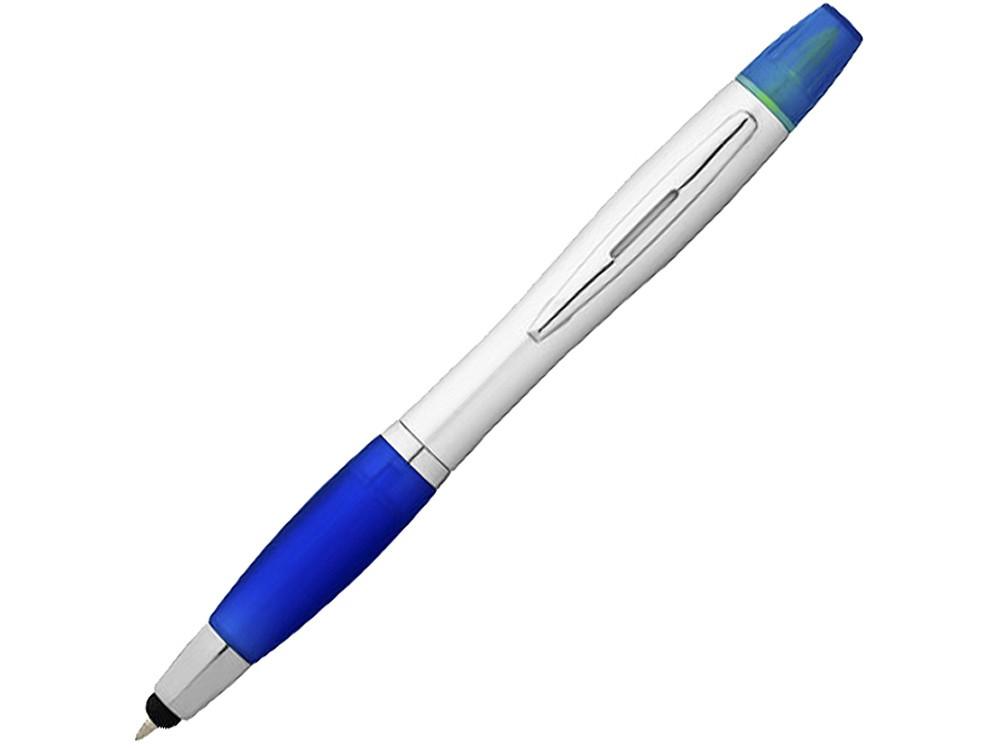 Ручка-стилус Nash с маркером, синий классический/серебристый