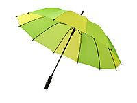 Зонт-трость Trias, полуавтомат 23,5, зеленый/лайм/желтый