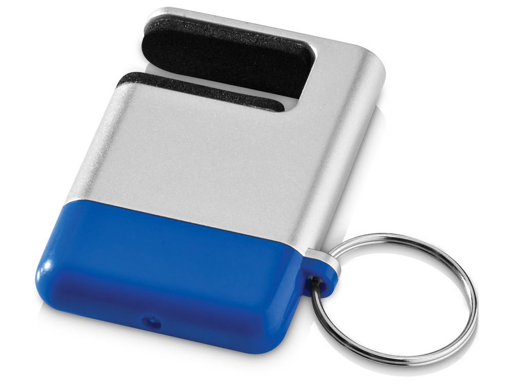 Подставка-брелок для мобильного телефона GoGo, серебристый/синий