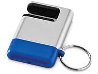 Подставка-брелок для мобильного телефона GoGo, серебристый/синий, фото 1