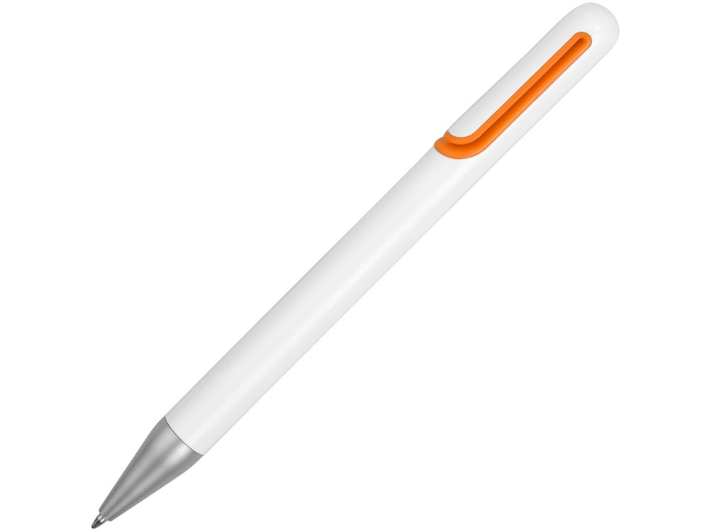 Ручка шариковая Nassau, белый/оранжевый