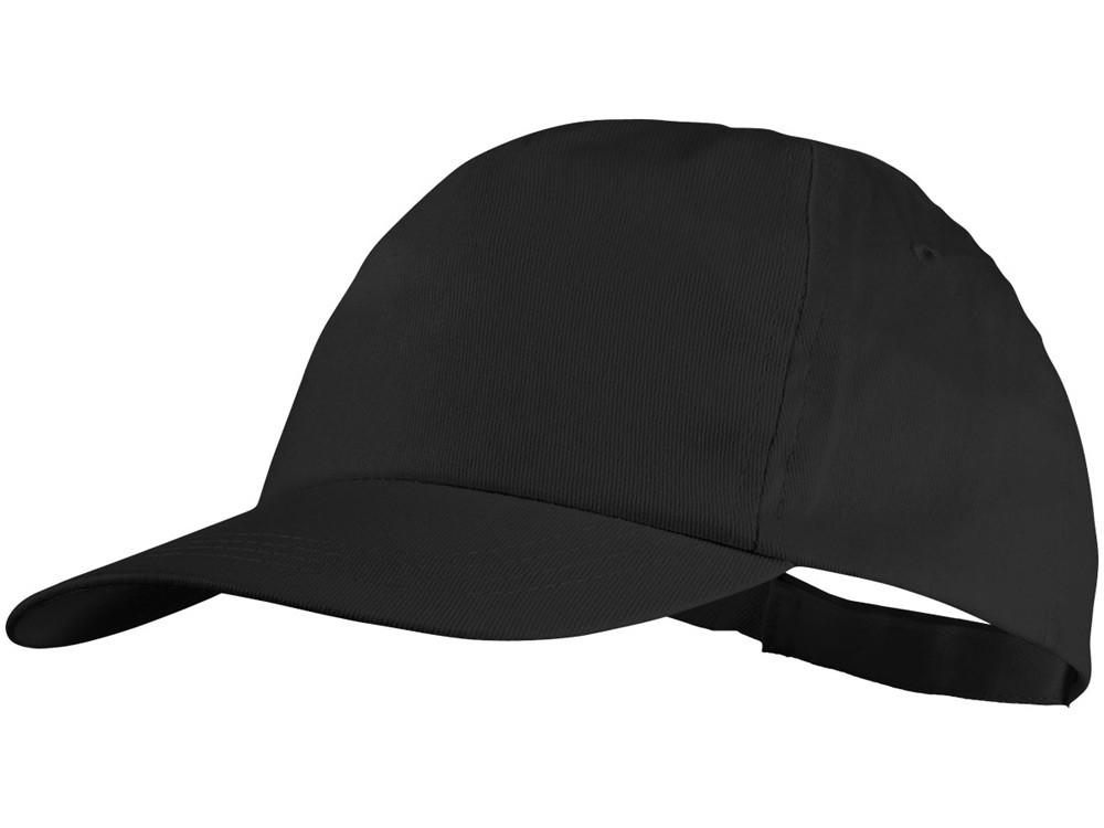 Бейсболка Basic, 5-ти панельная, черный