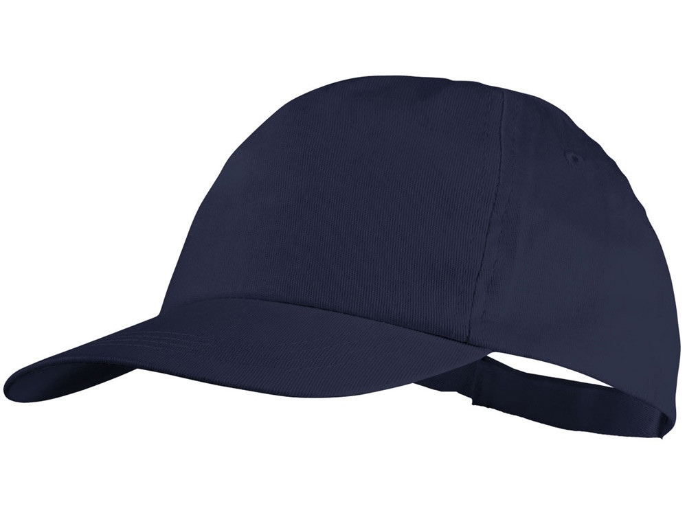 Бейсболка Basic, 5-ти панельная, темно-синий