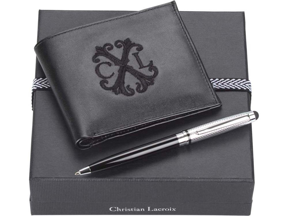 Набор: портмоне, ручка-стилус шариковая. Christian Lacroix