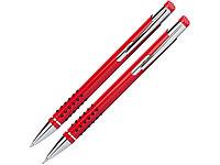 Набор Онтарио: ручка шариковая, карандаш механический, красный/серебристый, фото 1