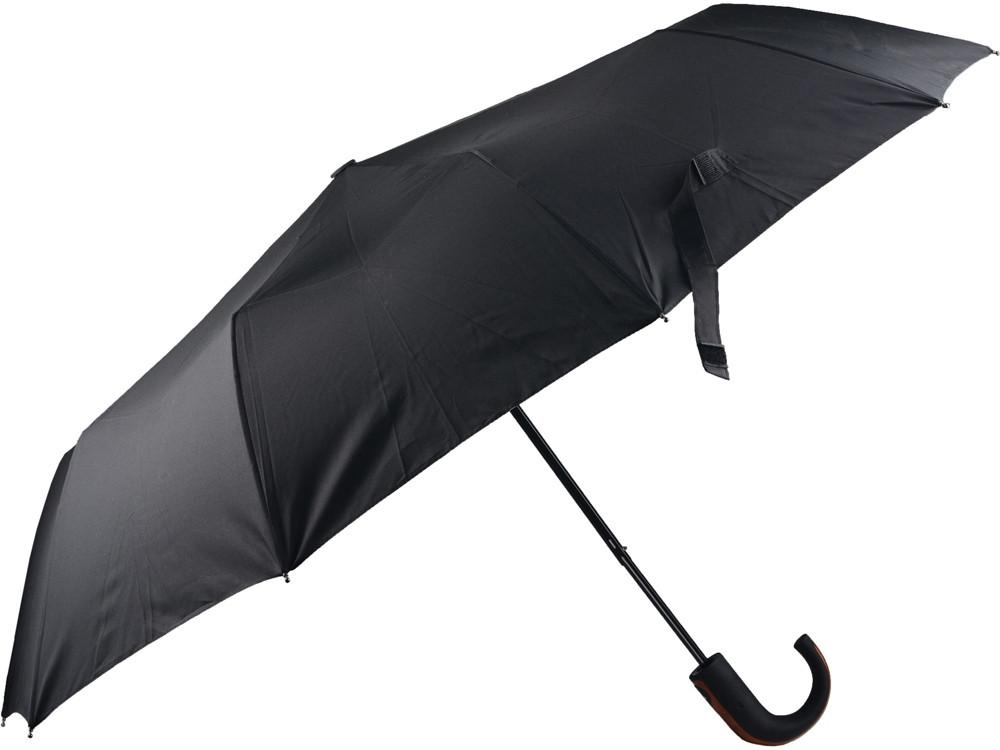 Складной зонт полуавтоматический, черный