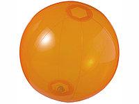 Мяч пляжный Ibiza, оранжевый прозрачный, фото 1