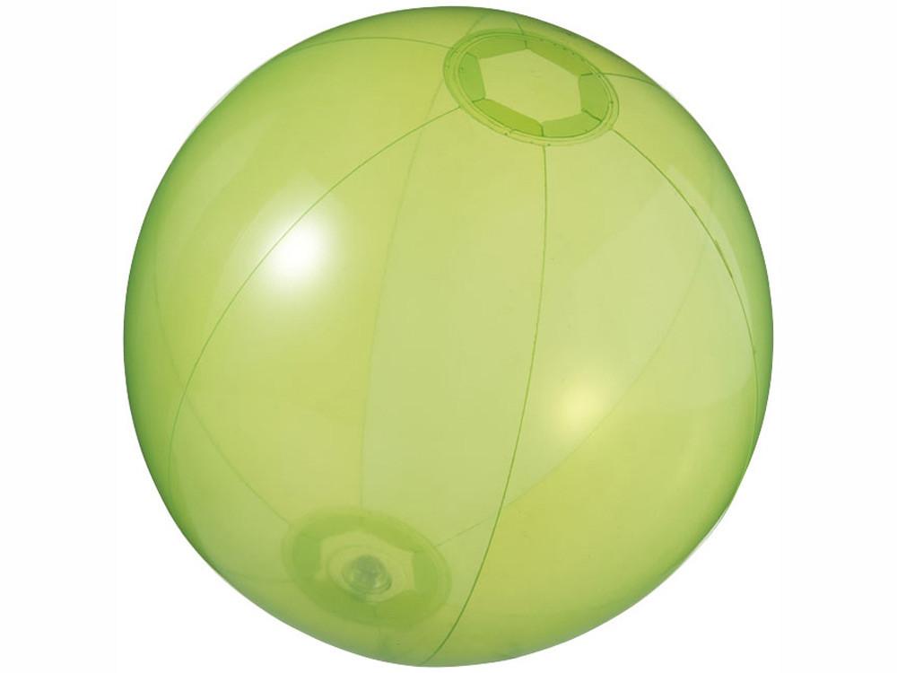 Мяч пляжный Ibiza, зеленый прозрачный