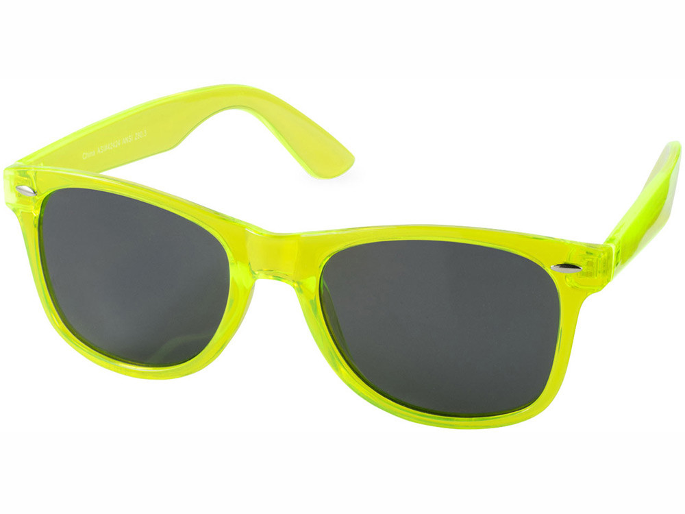 Очки солнцезащитные Sun Ray, лайм прозрачный