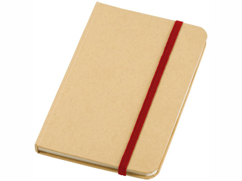 Блокнот А6 Dictum, бежевый/красный