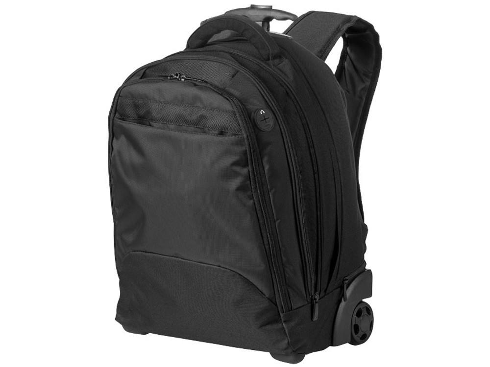 Рюкзак на роликах для ноутбука 17, черный