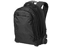Рюкзак на роликах для ноутбука 17, черный, фото 1