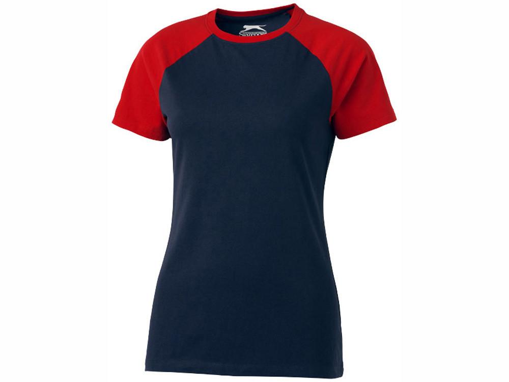 Футболка Backspin Tee женская, темно-синий/красный