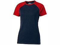 Футболка Backspin Tee женская, темно-синий/красный, фото 1