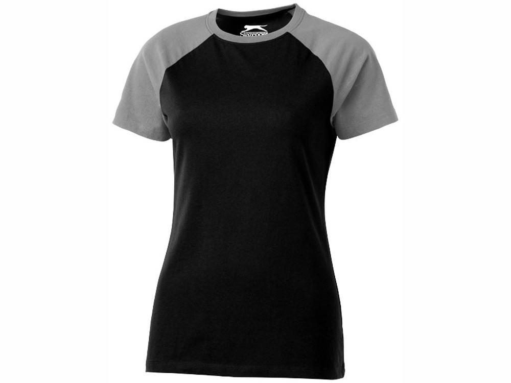 Футболка Backspin Tee женская, черный/серый