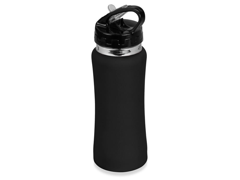 Бутылка спортивная Коста-Рика 600мл, черный (артикул 828027)