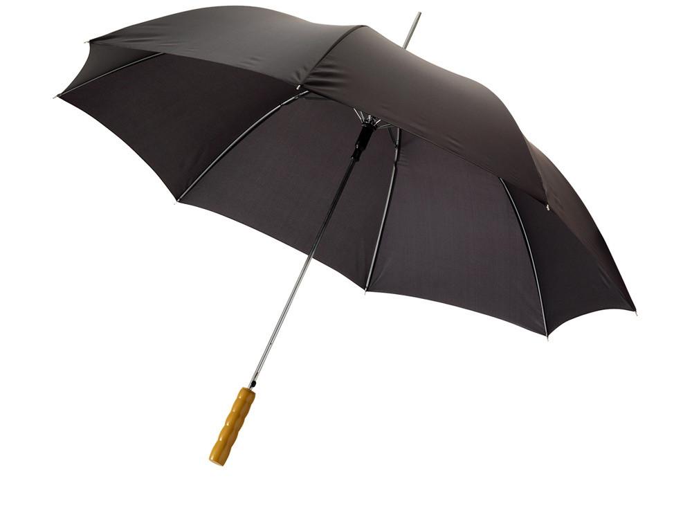 Зонт-трость Lisa полуавтомат 23, черный