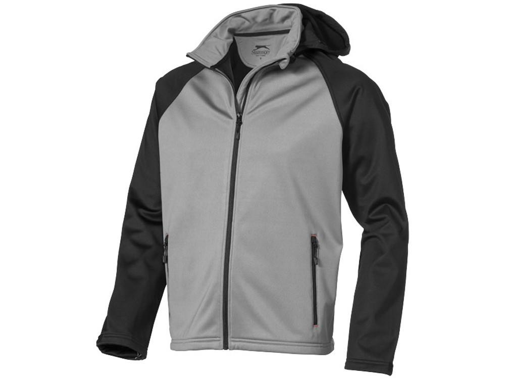 Куртка софтшел Сhallenger мужская, серый/черный