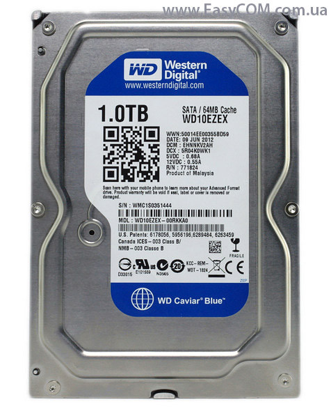 "Western Digital WD10EZEX HDD 1Tb SATA 6Gb/s  3.5"" blue"