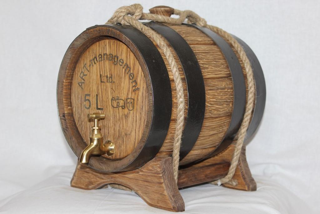 Дубовая бочка под старину, объем 5 литров