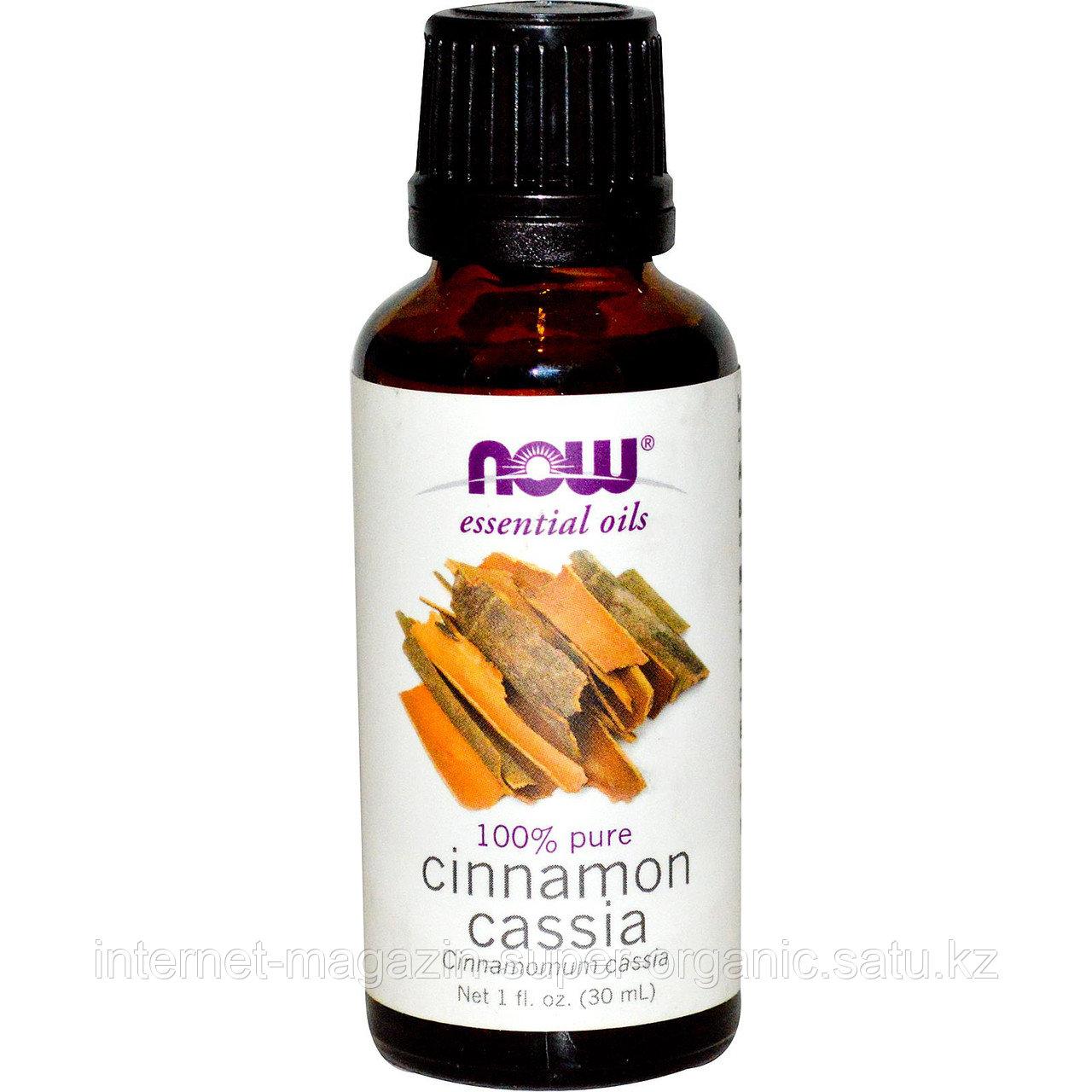 Эфирное масло корицы, 30 мл, Cinnamon Cassia, Essential Oils, Now Foods