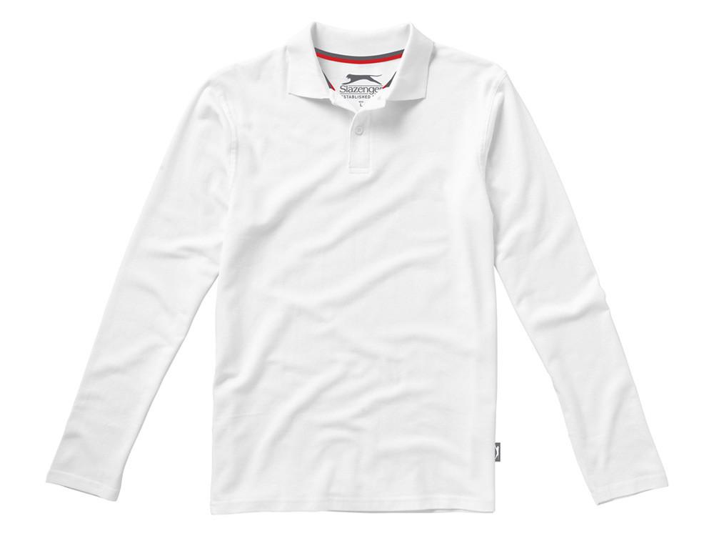 Рубашка поло Point мужская с длинным рукавом, белый