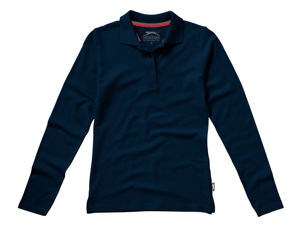 Рубашка поло Point женская с длинным рукавом, темно-синий
