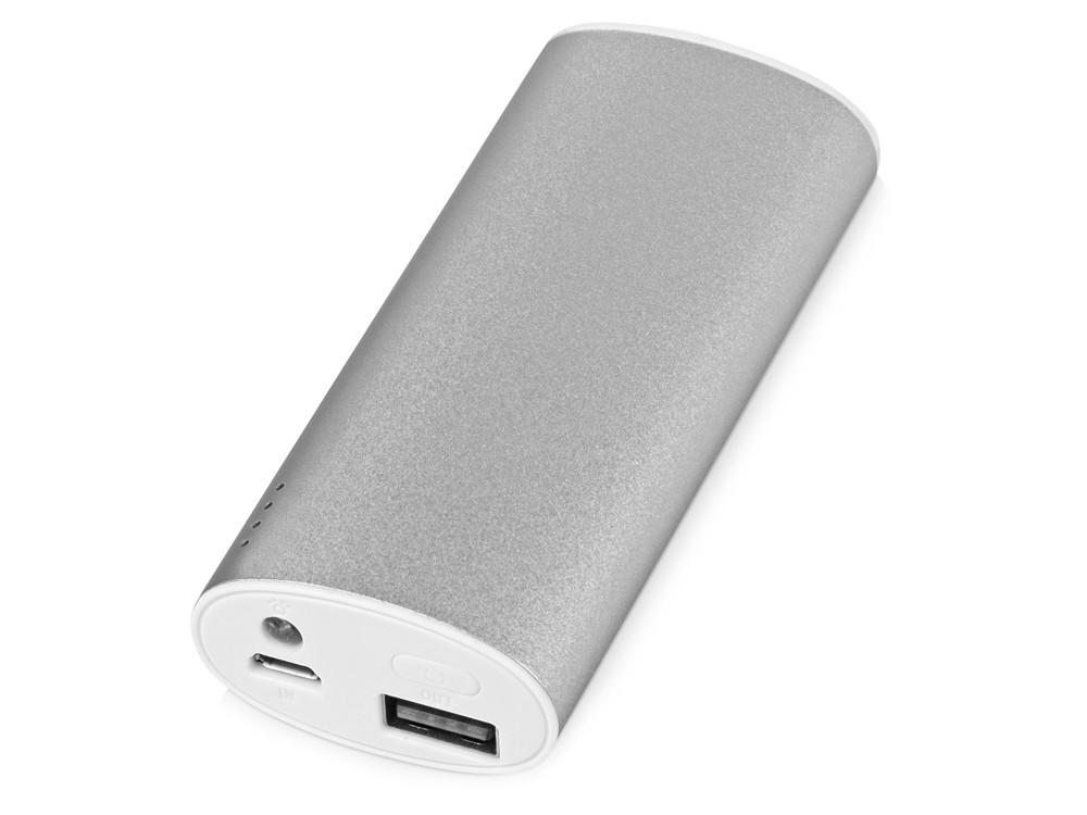 Портативное зарядное устройство Квазар, 4400 mAh, серебристый (артикул 392460)
