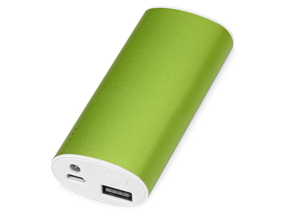 Портативное зарядное устройство Квазар, 4400 mAh, зеленое яблоко (артикул 392443)