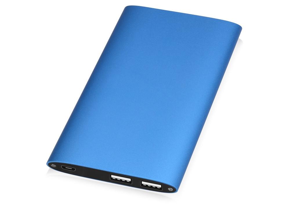 Портативное зарядное устройство Джет с 2-мя USB-портами, 8000 mAh, синий (артикул 392562)