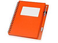 Блокнот Контакт с ручкой, оранжевый (артикул 413508), фото 1