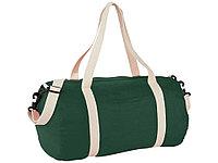 Хлопковая сумка Barrel Duffel, зеленый/бежевый, фото 1