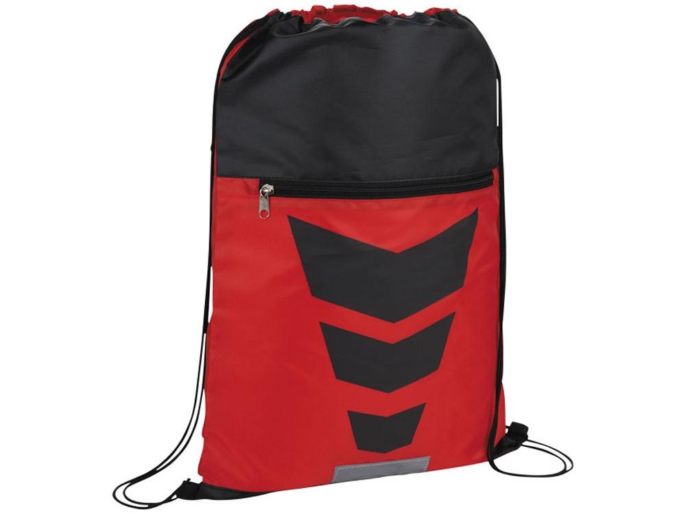 Рюкзак на шнурке Courtside, красный/черный