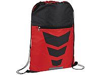 Рюкзак на шнурке Courtside, красный/черный, фото 1