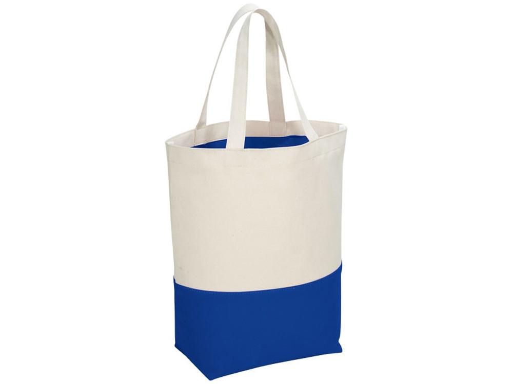 Сумка хлопковая Colour Pop, натуральный/ярко-синий